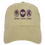 Purple Ribbon Alzheimer's Cap