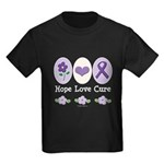 Purple Ribbon Alzheimer's Kids Dark T-Shirt