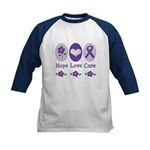 Purple Ribbon Alzheimer's Kids Baseball Jersey