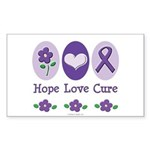Purple Ribbon Alzheimer's Rectangle Sticker