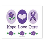 Purple Ribbon Alzheimer's Small Poster