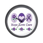 Purple Ribbon Alzheimer's Wall Clock