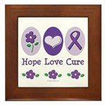 Purple Ribbon Alzheimer's Framed Tile