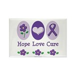 Purple Ribbon Alzheimer's Rectangle Magnet