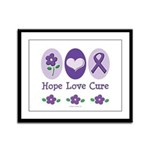Purple Ribbon Alzheimer's Framed Panel Print