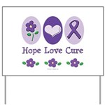 Purple Ribbon Alzheimer's Yard Sign