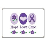 Purple Ribbon Alzheimer's Banner