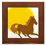 Sunset Horse Framed Tile