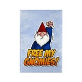 free my gnomies! Rectangle Magnet