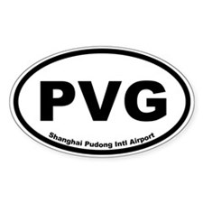 Shanghai Pudong Intl Airport Oval Decal