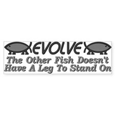 Evolve Fish Bumper Bumper Sticker