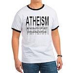 Atheism Non Prophet Ringer Tee Shirt