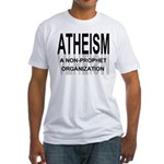 Atheism Non Prophet Fitted Tee Shirt