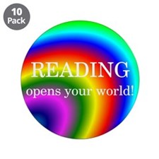 "Reading World 3.5"" Button (10 pack)"