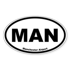Manchester Airport Oval Decal