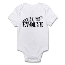 Skateboarding Evolution Infant Bodysuit