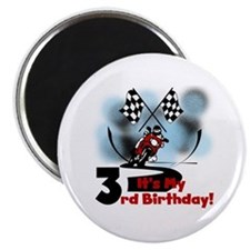 Motorcycle Racing 3rd Birthday Magnet