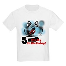 Motorcycle Racing 5th Birthday T-Shirt