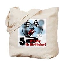 Motorcycle Racing 5th Birthday Tote Bag