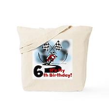 Motorcycle Racing 6th Birthday Tote Bag