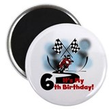 Motorcycle Racing 6th Birthday Magnet