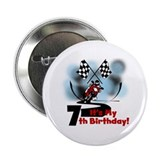 Motorcycle Racing 7th Birthday 2.25&quot; Button