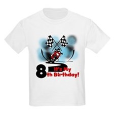 Motorcycle Racing 8th Birthday T-Shirt
