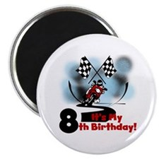 Motorcycle Racing 8th Birthday Magnet
