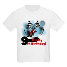 Motorcycle Racing 9th Birthday T-Shirt