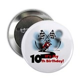 "Motorcycle Racing 10th Birthday 2.25"" Button"