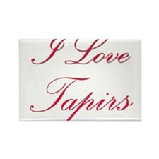 I Love Tapirs Rectangle Magnet (10 pack)