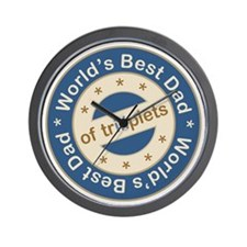 World's Best Dad of Triplet Boys Wall Clock