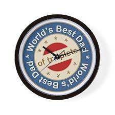 World's Best Dad of Triplets Boys Girl Wall Clock