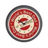World's Best Dad of Triplet Girls Wall Clock