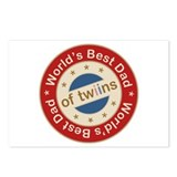 World's Best Dad of Twin Boy Girl Postcards (Packa