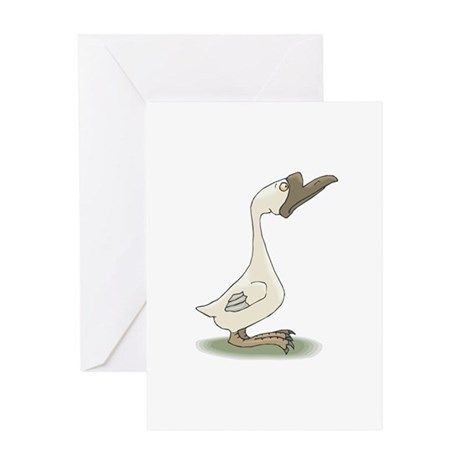 Silly White Goose Greeting Card