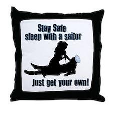 Sleep with a sailor Throw Pillow