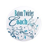 "Baton Twirler Coach 3.5"" Button"