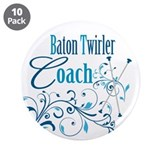"Baton Twirler Coach 3.5"" Button (10 pack)"