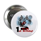 "Motorcycle Racing 1st Birthday 2.25"" Button"