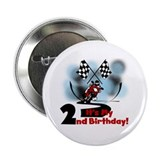 "Motorcycle Racing 2nd Birthday 2.25"" Button (10 pa"