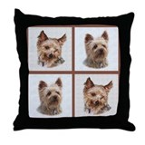Yorkie Buddies Throw Pillow
