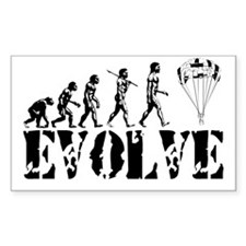 Skydiving Evolution Rectangle Decal