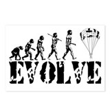 Skydiving Evolution Postcards (Package of 8)