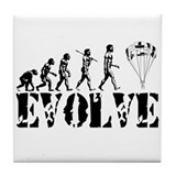 Skydiving Evolution Tile Coaster
