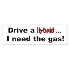Drive a Hybrid Bumper Bumper Sticker