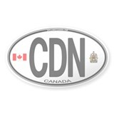 Canada Country Code Oval Oval Bumper Stickers