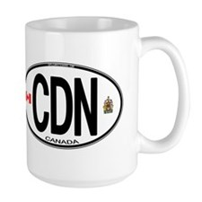 Canada Country Code Oval Mug