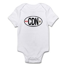 Canada Country Code Oval Infant Bodysuit