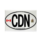 Canada Country Code Oval Rectangle Magnet